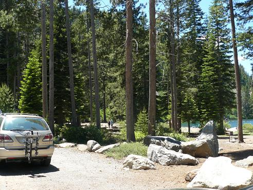 China Cove Beach in Donner Memorial State Park in Truckee, California at Donner Lake