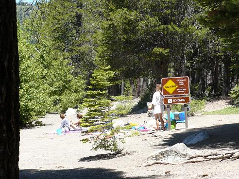 China Cove Beach in Donner Memorial State Park in Truckee, California on Donner Lake