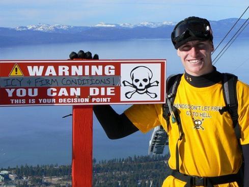 Dan McCready - Warning Sign at Heavenly Valley Ski Resort