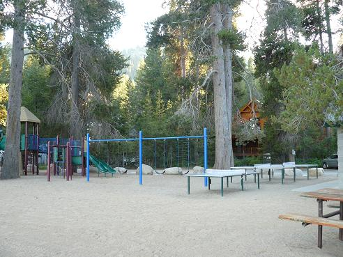 Donner Lake Property Owners Beach Playground area in Truckee, California