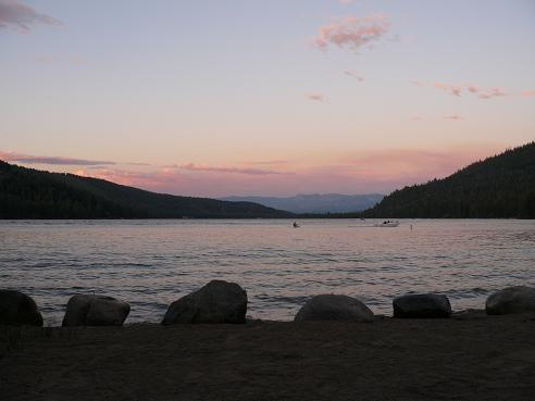 Donner Lake Property Owners Beach - Sunset in Truckee, California