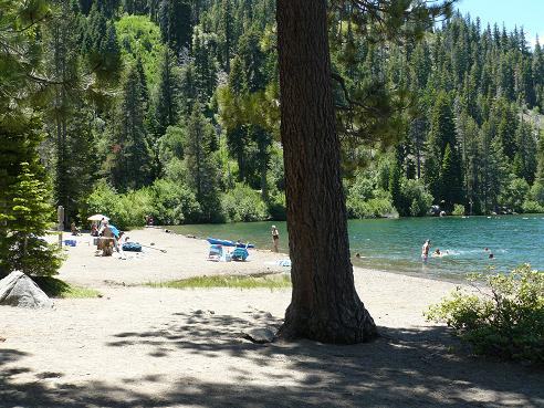 China Cove Beach in the Donner Memorial State Park in Truckee, CA at Donner Lake
