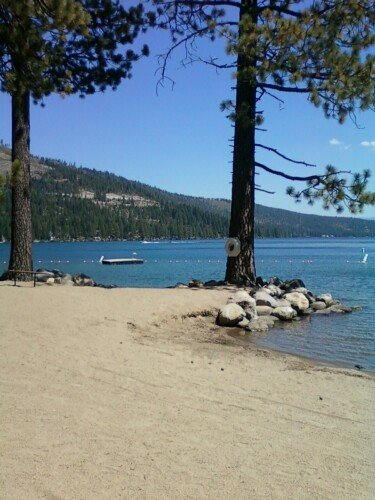 Donner Lake Property Owners Beach at Donner Lake in Truckee California