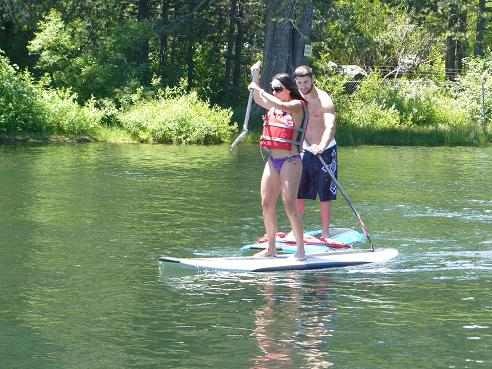Stand Up Paddling at Donner Lake, in Truckee, CA