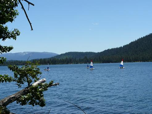 Sailing at Donner Lake in Truckee, California