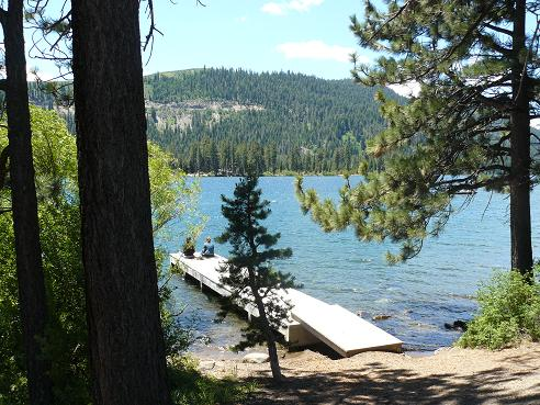 One of the Donner Lake Public Piers in Truckee, California