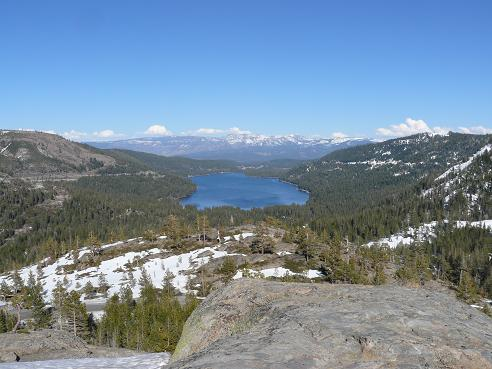 Donner Lake in Truckee, CA as viewed from the Old Hwy 40 View Point