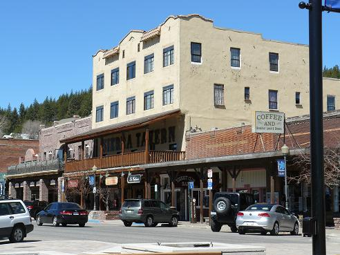 Downtown Truckee Commericial Row in Truckee, CA - lots of shops and restaurants.