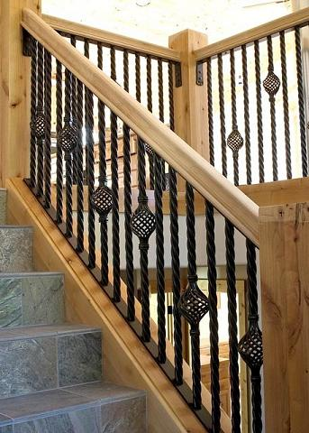 Custom Staircase Railings made by Goodpaster Metalworks in Truckee, CA