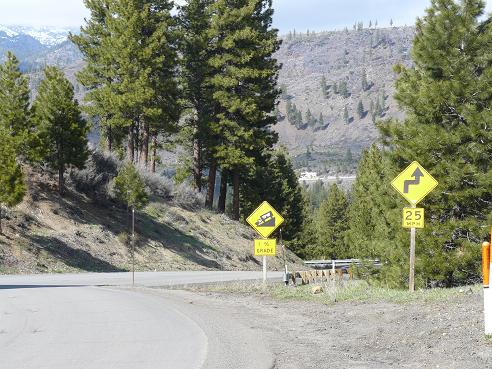 Hirshdale Hill from the Glenshire Neighborhood in Truckee to Hwy 80