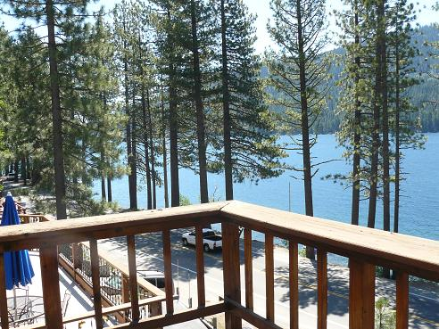 View from the deck of a Donner Lake house in Truckee, CA