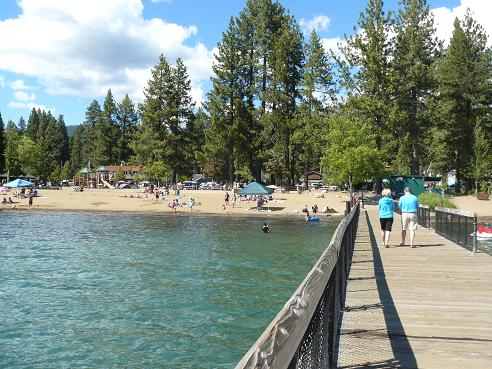 The Pier at the Kings Beach State Recreation Area in Kings Beach at Lake Tahoe