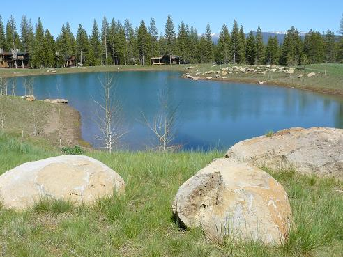 Martis Camp Fishing Lake in the Martis Camp Community in Truckee, California