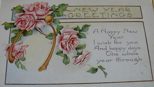 Vintage New Years Holiday Card