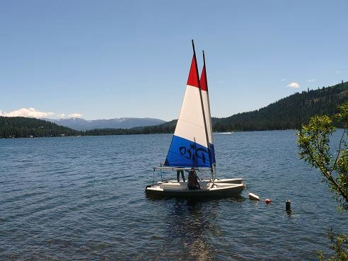 Sailboats at Shoreline Park in Truckee, California