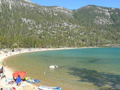 Sand Harbor State Park - beach area at Lake Tahoe, Nevada