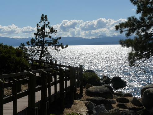 Sand Harbor State Park Boardwalk at Lake Tahoe, Nevada