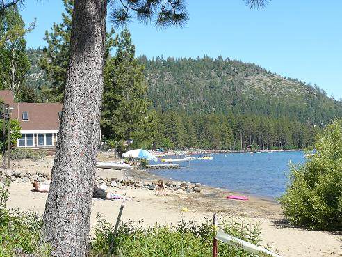 Secline Beach in Kings Beach, CA at Lake Tahoe