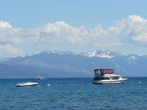 View of Lake Tahoe from Secline Beach in Kings Beach, CA at Lake Tahoe