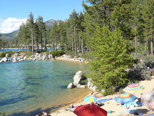 Divers Cove at Sand Harbor State Park at Lake Tahoe