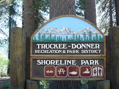 Shoreline Park Sign in Truckee, California