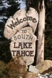 Welcome to South Lake Tahoe Sign