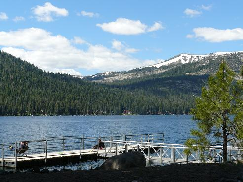 Shoreline Park All Access Fishing Pier at Donner Lake, in Truckee, California