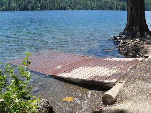 Shoreline Park at Donner Lake in Truckee, California