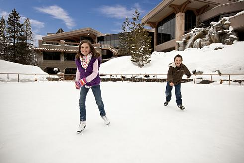 Ice Skating at the Resort at Squaw Creek in Olympic Valley, CA
