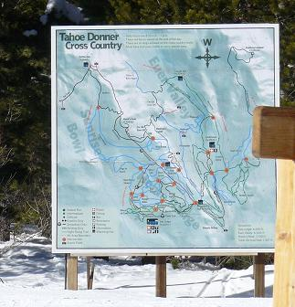 Tahoe Donner Cross Country Skiing Trail Map