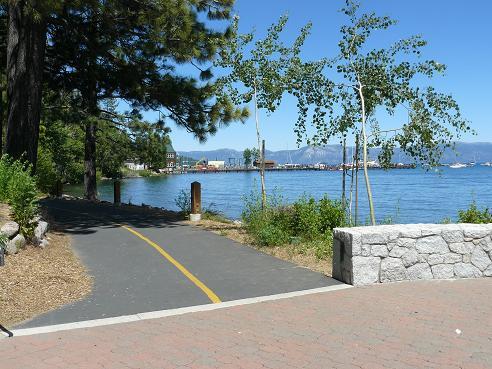 Tahoe City Lakeside Trail in Tahoe City at Lake Tahoe