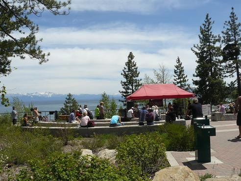 Truckee Wine Events in Truckee, California - info. from Truckee Travel Guide - Pictured is the Tahoe City Wine Walk Event