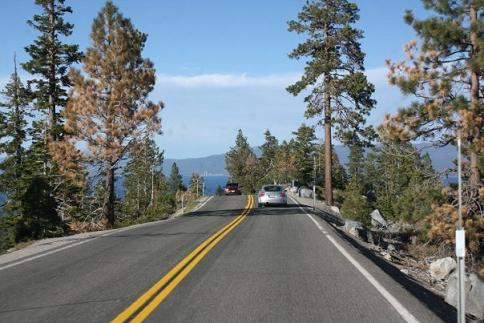 Hwy 89 heading South around Emerald Bay, Lake Tahoe