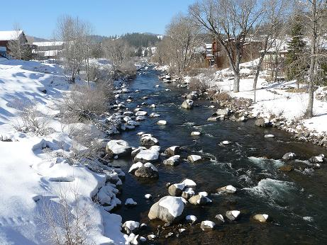 Truckee River in Downtown Truckee