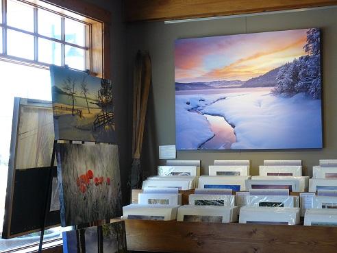 Truckee Art - inside the Carmel Gallery in Truckee, CA