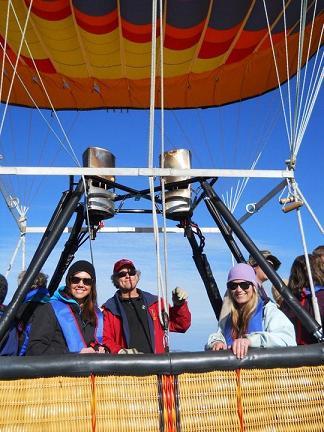 Hot Air Ballooning over Lake Tahoe, California