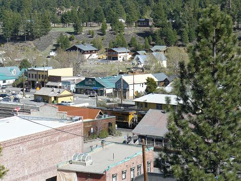 View from the Veterans Hall and Rocking Stone in Truckee, California