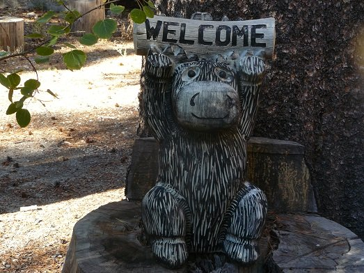Welcome Sign seen in a Donner Lake neighborhood in Truckee, CA