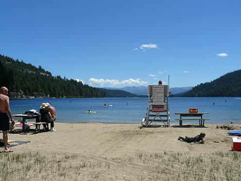 West End Beach at Donner Lake in Truckee, California