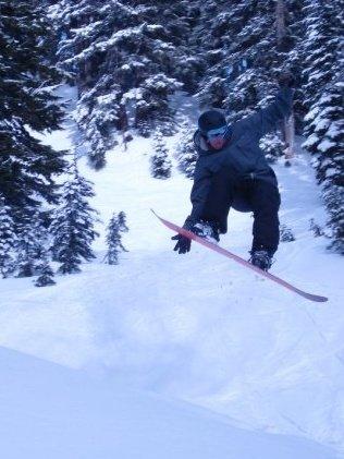 Zach Bacon Snowboarding